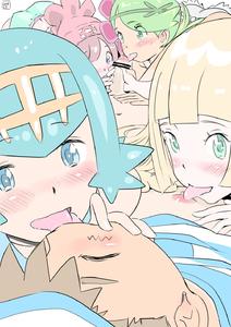 Rating: Explicit Score: 8 Tags: 1boy 4girls bangs bar_censor blonde_hair blue_eyes blue_hair blunt_bangs blush censored fellatio french_kiss green_eyes green_hair group_sex harem hetero highres kiss li_(lithium0522) licking lillie_(pokemon) mao_(pokemon) mizuki_(pokemon) multiple_fellatio multiple_girls navel nipple_licking nipples npc_trainer oral penis pointless_censoring pokemon pokemon_(anime) pokemon_sm_(anime) satoshi_(pokemon) short_hair suiren_(pokemon) teamwork tongue tongue_out trial_captain User: DMSchmidt
