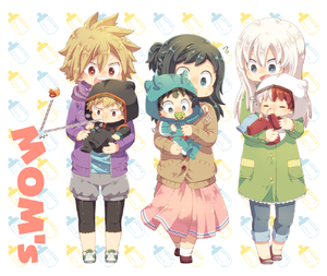 Rating: Safe Score: 1 Tags: 3boys 3girls baby bakugou_katsuki bakugou_mitsuki blue_eyes blush boku_no_hero_academia cardigan chibi closed_eyes coat full_body green_eyes green_hair hood long_hair long_skirt midoriya_inko midoriya_izuku mother_and_son multicoloured_hair multiple_boys multiple_girls onesie open_mouth pacifier pink_skirt red_eyes red_hair short_hair skirt smile spiked_hair toddlercon todoroki_rei todoroki_shouto two-tone_hair uppi white_hair younger User: Domestic_Importer