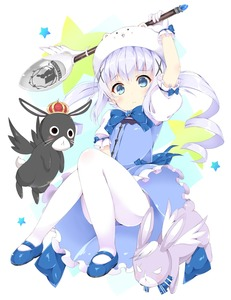 Rating: Safe Score: 0 Tags: 10s 1girl absurdres animal animal_on_head anko_(gochuumon_wa_usagi_desuka?) arm_up between_legs blue_bow blue_eyes blue_gk blue_ribbon bow bowtie bunny bunny_on_head dress eyebrows eyebrows_visible_through_hair full_body gloves gochuumon_wa_usagi_desu_ka? hair_ornament hand_between_legs highres holding holding_spoon kafuu_chino lace lace-trimmed_gloves long_hair looking_at_viewer pantyhose ribbon silver_hair solo spoon tippy twin_tails white_gloves white_legwear wild_geese User: DMSchmidt