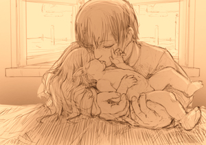 Rating: Explicit Score: 24 Tags: 1boy 1girl age_difference belly closed_eyes collared_shirt elf eyebrows_visible_through_hair feral_lemma french_kiss greyscale hetero kiss long_hair long_sleeves monochrome navel nude original pointy_ears shirt short_hair toddlercon tongue tongue_out window User: Domestic_Importer