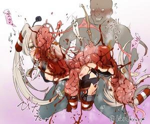 Rating: Explicit Score: 1 Tags: 1boy 1girl amatsukaze_(kantai_collection) blood brain guro harasaki intestines kantai_collection necrophilia nipples vomit User: kuro