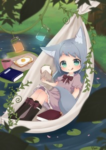 Rating: Safe Score: 0 Tags: 1girl :q animal_ears artist_name black_boots book boots bow bowtie collared_dress cross-laced_footwear cup dress eyebrows_visible_through_hair food food_on_face fried_egg green_eyes grey_hair hammock head_tilt holding holding_food jar lace-up_boots licking_lips lily_pad long_hair looking_at_viewer lying mug nature on_back original outdoors petals pink_dress plant pond red_bow red_bowtie reo_(re2kn) sandwich short_sleeves signature slice_of_bread smile solo sunny_side_up_egg tail tongue tongue_out vines wolf_ears wolf_girl wolf_tail User: DMSchmidt