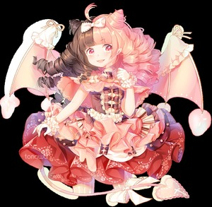 Rating: Safe Score: 0 Tags: 1girl bow brown_hair cake commission demon_girl demon_tail demon_wings dress drill_hair food frilled_dress frills multicoloured_hair original pink_eyes pink_hair tail tonowa transparent_background wings User: DMSchmidt