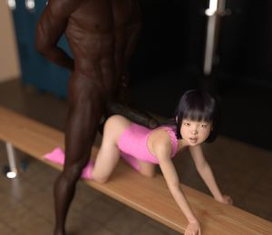 Rating: Explicit Score: 31 Tags: 1boy 1girl 3dcg age_difference asian bangs black_hair blunt_bangs brown_skin clothed_female_nude_male dark_skinned_male from_behind imminent_sex interracial kneeling large_penis leotard long_hair looking_at_viewer loose_socks muscle nipples nude open_mouth original penis photorealistic sabine_heinrich smile socks standing testicles uncensored User: Domestic_Importer