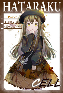 Rating: Safe Score: 1 Tags: 1girl alternate_costume bird byuey character_name clenched_hands cowboy_shot dress english gear_hair_ornament gear_print hand_to_own_mouth hat hat_ribbon hataraku_saibou highres jewellery light_brown_hair long_hair long_sleeves necklace platelet_(hataraku_saibou) pouch ribbon shadow solo straight_hair wrench yellow_eyes User: DMSchmidt