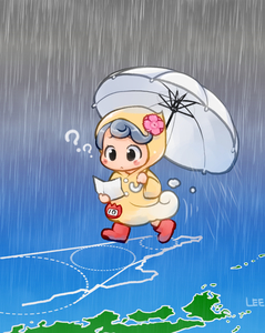 Rating: Safe Score: 0 Tags: 1girl ?? black_eyes blush_stickers boots eyebrows_behind_hair grey_hair grey_sky holding holding_umbrella hood hood_up lee_(colt) long_sleeves motion_lines original outdoors rain raincoat rubber_boots solo tareme typhoon umbrella walking white_umbrella User: DMSchmidt