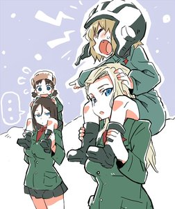 Rating: Safe Score: 0 Tags: ... 4girls actas bangs black_hair blonde_hair blue_eyes boots breasts brown_hair carrying clara_(girls_und_panzer) closed_eyes cowtits fang fur_hat girls_und_panzer hair_between_eyes hand_on_another's_head hat helmet hibimegane holding_legs jacket katyusha large_breasts looking_at_breasts looking_to_the_side low_twintails military military_uniform multiple_girls nina_(girls_und_panzer) nonna open_mouth parted_bangs piggyback pleated_skirt pointing sketch skirt snow spoken_ellipsis spoken_sweatdrop sweatdrop twin_tails uniform ushanka wide-eyed User: DMSchmidt