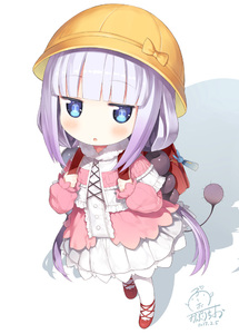 Rating: Safe Score: 2 Tags: 10s 1girl backpack bag bangs beads blue_eyes blunt_bangs blush capelet dragon_girl dragon_horns eyebrows_visible_through_hair from_above gradient_hair hair_beads hair_ornament hat hibanar horns kanna_kamui kobayashi-san_chi_no_maidragon lavender_hair long_hair long_sleeves looking_at_viewer looking_up low_twintails multicoloured_hair open_mouth purple_hair randoseru school_hat signature simple_background slit_pupils solo standing tail thighhighs twin_tails white_background white_legwear User: Domestic_Importer
