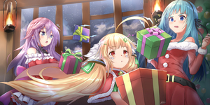 Rating: Safe Score: 2 Tags: 3girls ahoge anemone_(flower_knight_girl) azur_lane bangs bare_shoulders black_ribbon blonde_hair blue_eyes blue_hair blush box capelet christmas christmas_ornaments christmas_tree closers crossover dress eighth_note eldridge_(azur_lane) eyebrows_visible_through_hair flower_knight_girl fur-trimmed_capelet fur-trimmed_dress fur-trimmed_sleeves fur_trim gift gift_box hair_between_eyes hair_ribbon hands_up highres holding holding_gift indoors lantern long_hair long_sleeves multiple_crossover multiple_girls musical_note open_mouth parted_lips pnt_(ddnu4555) purple_eyes quarter_note red_capelet red_dress red_eyes ribbon signature strapless strapless_dress twin_tails very_long_hair violet_(closers) User: DMSchmidt