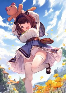Rating: Safe Score: 5 Tags: 1girl :d arms_up belt black_footwear blue_skirt blue_sky breasts brown_eyes brown_hair capelet cloud cowtits day draph eyebrows_visible_through_hair flower frilled_skirt frills granblue_fantasy hair_bobbles hair_ornament hairband horns large_breasts long_sleeves looking_at_viewer open_mouth oppai_loli outdoors pantsu petals plaid_capelet shirt shoes short_hair skirt sky smile solo stuffed_animal stuffed_toy supertie teddy_bear thighhighs underwear upskirt white_legwear white_pantsu white_shirt yaia_(granblue_fantasy) User: DMSchmidt