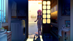 Rating: Questionable Score: 0 Tags: 1girl absurdres alicorn animal azur_lane bangs bath blue_hair blush book bookmark bra bra_removed breasts coloured_eyelashes dalian_(1457091741) dress dress_removed eyebrows_visible_through_hair gradient_hair hair_censor hair_over_breasts highres indoors laundry_basket long_hair looking_at_viewer map medium_breasts mirror multicoloured_hair navel nipples nose_blush pantsu pantsu_pull parted_lips photo_(object) picture_frame purple_dress purple_eyes purple_hair pussy reflection shower_head solo standing standing_on_one_leg topless underwear underwear_only unicorn_(azur_lane) very_long_hair washing_machine white_bra white_pantsu window User: DMSchmidt