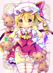 Rating: Safe Score: 0 Tags: 1girl :d ascot bangs bed_sheet blonde_hair blush bow chocolat_(momoiro_piano) closed_eyes closed_mouth cowboy_shot crystal eyebrows_visible_through_hair flandre_scarlet frilled_shirt_collar frills hair_between_eyes hands_up hat hat_bow looking_at_viewer lying mob_cap on_back one_side_up open_mouth puffy_short_sleeves puffy_sleeves red_bow red_eyes red_skirt red_vest ringlets shirt short_sleeves skirt skirt_set smile solo striped striped_legwear stuffed_animal stuffed_toy teddy_bear thighhighs touhou_project vest white_hat white_shirt wings yellow_neckwear User: DMSchmidt