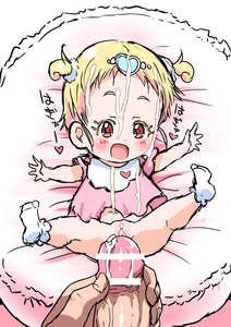 Rating: Explicit Score: 11 Tags: 1boy 1girl :d bar_censor blonde_hair blush bootyan bottomless censored cum cum_on_body cum_on_clothes facial heart hetero highres hug-tan_(precure) hugtto!_precure lying on_back open_mouth outstretched_arm penis pov precum precure pussy shiny shiny_skin short_twin_tails smile solo_focus spead_legs spread_arms spread_legs tied_hair toddlercon twin_tails User: Domestic_Importer