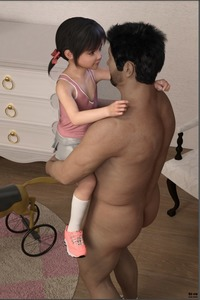 Rating: Questionable Score: 4 Tags: 1boy 1girl 3dcg age_difference ass black_hair chair clothed_female_nude_male flat_chest hair_ribbon held_up loli's_game_time looking_at_partner nude photorealistic ribbon shoes siro skirt smile socks toy twin_tails User: fantasy-lover