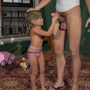Rating: Explicit Score: 18 Tags: 1boy 1girl 3dcg age_difference braid fishnets flat_chest flip-flops hand_on_another's_head holding_penis navel nipples pantsu penis penis_awe photorealistic pubic_hair sandals sophiew_lolicon_3d standing stuffed_animal stuffed_toy testicles toy underwear User: fantasy-lover