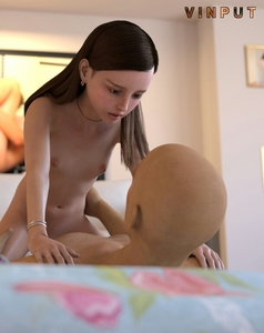 Rating: Explicit Score: 35 Tags: 1boy 1girl 3dcg age_difference bracelet breasts brown_hair cowgirl_position earrings father_and_daughter hands_on_another's_hips incest jewellery legwear looking_at_each_other necklace nipples nude patterned_legwear photorealistic sex sitting_on_lap small_breasts spread_legs straddling uncensored vaginal vinput User: Software