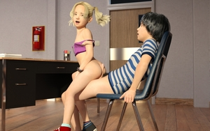 Rating: Explicit Score: 62 Tags: 1boy 1girl 3dcg ass blonde_hair bottomless bracelet buttjob child_on_child classroom cum draxlasto ejaculation fire_extinguisher flat_chest highres hot-dogging long_hair looking_back male_pubic_hair open_mouth penis photorealistic pubic_hair rape school sex shoes shota sitting socks standing straight_shota twin_tails User: fantasy-lover