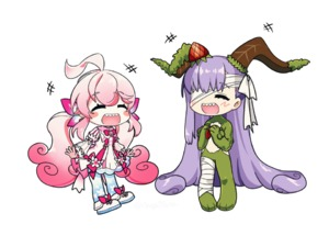 Rating: Safe Score: 0 Tags: angellyuna blush chibi crossover elsword eyebrows_visible_through_hair fate/grand_order fate_(series) fate_extra fate_extra_ccc fluffy kingprotea laby_(elsword) long_hair radiant_soul_(elsword) sharp_teeth smile teeth User: Domestic_Importer