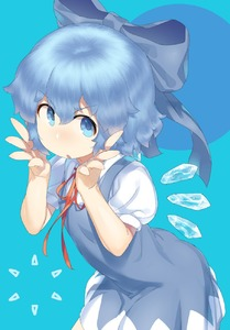 Rating: Safe Score: 3 Tags: 1girl :o bangs blue blue_background blue_bow blue_eyes blue_hair bow cirno detached_wings eyebrows_visible_through_hair fairy hair_between_eyes hair_bow highres ice ice_wings looking_at_viewer monosenbei neck_ribbon open_mouth puffy_short_sleeves puffy_sleeves red_ribbon ribbon short_hair short_sleeves solo touhou_project v-shaped_eyebrows wings User: DMSchmidt