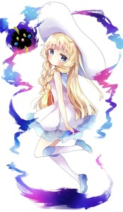 Rating: Safe Score: 2 Tags: 1girl bangs bare_arms bare_shoulders blonde_hair blue_eyes blush boots braid closed_mouth cosmog dress eyebrows_visible_through_hair full_body gen_7_pokemon hat highres knee_boots lillie_(pokemon) looking_at_viewer looking_to_the_side pokemon pokemon_(creature) pokemon_(game) pokemon_sm see-through side_braids sleeveless sleeveless_dress sun_hat thick_eyebrows tsukiyo_(skymint) twin_braids white_background white_dress white_footwear white_headwear User: DMSchmidt