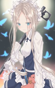 Rating: Safe Score: 1 Tags: 1girl abigail_williams_(fate/grand_order) absurdres alternate_costume apron artist_request bangs black_skirt blonde_hair blue_eyes blush bow braid breasts bug butterfly butterfly_hair_ornament closed_mouth dress enmaided fate/grand_order fate_(series) forehead french_braid hair_ornament headdress heroic_spirit_chaldea_park_outfit highres holding holding_stuffed_animal insect key long_hair long_sleeves looking_at_viewer maid maid_apron maid_headdress mike3284 orange_bow parted_bangs sash skirt sleeves_past_fingers sleeves_past_wrists small_breasts smile solo staff stuffed_animal stuffed_toy teddy_bear very_long_hair white_bow white_dress User: DMSchmidt