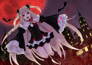 Rating: Safe Score: 1 Tags: 1girl bare_shoulders bat black_dress blonde_hair boots detached_sleeves dress fang hatsumi_(mdr323) krul_tepes long_hair moon owari_no_seraph pointy_ears red_eyes red_moon solo thigh_boots thighhighs very_long_hair User: DMSchmidt