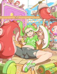 Rating: Safe Score: 1 Tags: 1girl bangs bdsm blunt_bangs bondage bound cameltoe flat_chest green_eyes green_hair headphones highres inkling long_hair mask navel open_mouth rope shoes sidelocks sitting sneakers solo spats splatoon spread_legs squid super_soaker tenako tentacle_hair torn_shorts twin_tails User: DMSchmidt