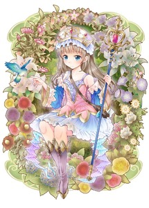 Rating: Safe Score: 1 Tags: 1girl atelier_(series) atelier_totori bird blue_eyes boots brown_hair detached_sleeves flower frills hairband knee_boots long_hair plant ratryu sitting skirt smile solo staff totooria_helmold white_skirt User: DMSchmidt