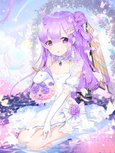 Rating: Safe Score: 0 Tags: 1girl :o ahoge animal apple_caramel azur_lane bangs bell blue_sky blush bouquet bow breasts bug butterfly cannon cleavage day detached_sleeves dress elbow_gloves eyebrows_visible_through_hair flight_deck flower gloves hair_between_eyes hair_bun head_tilt highres holding holding_bouquet insect jewellery jingle_bell kneehighs looking_at_viewer object_hug one_side_up outdoors parted_lips puffy_short_sleeves puffy_sleeves purple_eyes purple_flower purple_hair purple_rose ring rose see-through seiza short_sleeves side_bun sitting sky sleeveless sleeveless_dress small_breasts solo stuffed_animal stuffed_toy stuffed_unicorn turret unicorn_(azur_lane) water white_bow white_dress white_gloves white_legwear User: DMSchmidt