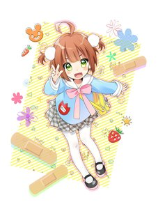 Rating: Safe Score: 1 Tags: 1girl absurdres ahoge arm_u bag bandaid blue_shirt brown_hair chil fang green_eyes highres kindergarten_uniform leaning_forward mary_janes open_mouth original osanai_mei pantyhose shirt shoes short_hair short_twin_tails skirt smile solo twin_tails two_side_up v white_legwear User: DMSchmidt