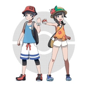 Rating: Safe Score: 0 Tags: 1boy 1girl :d asatsuki_(fgfff) backpack bag bare_legs bare_shoulders black_hair blue_boots blue_eyes boots braid bucket_hat female_protagonist_(pokemon_ultra_sm) flat_chest flower full_body hair_flaps hat highres holding legwear_under_shorts long_hair looking_at_viewer official_style open_eyes open_mouth poke_ball pokemon pokemon_(game) pokemon_usum pose shirt short_hair short_sleeves shorts simple_background sleeveless sleeveless_shirt smile standing sun_hat t-shirt tank_top twin_braids white_background white_shorts you_(pokemon_ultra_sm) z-ring User: Domestic_Importer