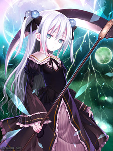 Rating: Safe Score: 0 Tags: 1girl blue_eyes duel_bahamut gothic_lolita hibanar lolita_fashion long_hair looking_at_viewer original ribbon ribbon-trimmed_sleeves ribbon_trim scythe tagme twin_tails white_hair User: DMSchmidt