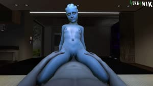 Rating: Explicit Score: 16 Tags: 1boy 1girl 3dcg 4ere4nik alien animated asari blue_skin breasts censored cowgirl_position girl_on_top looking_at_viewer mass_effect navel nipples nude on_bed penis photorealistic pov pussy red_eyes riding sex sitting_on_lap small_breasts source_filmmaker straddling tentacle_hair uncensored vaginal User: nurii29