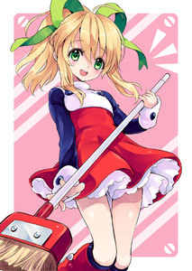 Rating: Safe Score: 2 Tags: 1girl :d blonde_hair boots bow broom capcom dress green_eyes hair_bow hair_ribbon knee_boots long_hair long_sleeves looking_at_viewer open_mouth petticoat ponytail red_skirt ribbon rockman rockman_(classic) roll skirt smile solo standing thigh_gap thighs turtleneck yukiwo User: DMSchmidt