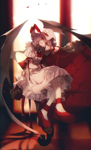Rating: Safe Score: 0 Tags: 1girl ascot bat_wings blurry brooch couch crossed_legs depth_of_field hat hat_ribbon head_tilt highres indoors jewellery lavender_hair looking_at_viewer mob_cap no-kan petals red_eyes red_footwear red_ribbon red_shoes remilia_scarlet ribbon rose_petals shirt shoes short_hair sitting skirt solo touhou_project wings User: DMSchmidt