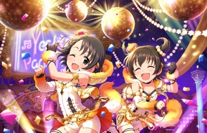 Rating: Safe Score: 0 Tags: 10s 2girls akagi_miria artist_request bangs bare_shoulders black_hair blush braid choker closed_eyes confetti crown dancing detached_sleeves flat_chest fur_trim gloves hair_ornament idolmaster idolmaster_cinderella_girls idolmaster_cinderella_girls_starlight_stage jewellery mini_crown multiple_girls official_art one_eye_closed open_mouth ring sasaki_chie short_hair shorts single_braid single_glove smile stage star twin_tails two_side_up yes!_party_time!! User: Domestic_Importer