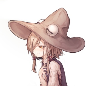 Rating: Safe Score: 0 Tags: 1girl absurdres bad_id bad_pixiv_id brown_hair brown_hat closed_mouth crying crying_with_eyes_open eyeball hair_over_one_eye hair_ribbon hat highres hito_komoru moriya_suwako orange_eyes purple_eyes red_ribbon ribbon shirt sidelocks simple_background solo tears touhou_project tress_ribbon upper_body wavy_mouth white_background white_shirt User: DMSchmidt