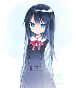 Rating: Safe Score: 3 Tags: +_+ 10s 1girl arms_at_sides asashio_(kantai_collection) belt belt_buckle black_hair black_skirt black_vest blue_eyes bow buckle closed_mouth collared_shirt cowboy_shot dress expressionless gradient_background heart hibanar kadokawa_shoten kantai_collection long_hair long_sleeves looking_at_viewer neck_ribbon pinafore_dress red_ribbon ribbon school_uniform shirt simple_background skirt solo standing white white_shirt wing_collar User: DMSchmidt