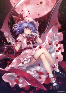 Rating: Safe Score: 2 Tags: 1girl bare_legs breasts crossed_legs cup demon_wings dress drinking_glass fingernails flying frilled_dress frills full_body full_moon hagiwara_rin hand_on_own_cheek hat hat_ribbon holding holding_drinking_glass lavender_hair looking_at_viewer mary_janes medium_hair mob_cap moon nail_polish night night_sky outdoors petals pink_dress puffy_short_sleeves puffy_sleeves red_eyes red_moon red_nails red_ribbon remilia_scarlet ribbon ribbon-trimmed_dress sharp_fingernails shoes short_sleeves sky small_breasts smile solo star_(sky) starry_sky thigh_strap touhou_project vampire wine_glass wings wrist_cuffs User: DMSchmidt