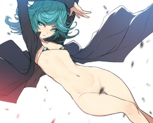Rating: Questionable Score: 2 Tags: 1girl aqua_eyes aqua_hair arms_up ban bikini bottomless coat convenient_censoring looking_to_the_side micro_bikini navel one-punch_man short_hair solo swimsuit tatsumaki User: DMSchmidt