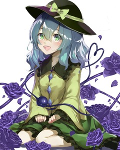 Rating: Safe Score: 0 Tags: 1girl :d black_footwear blouse blue_flower blue_hair blue_rose breasts flower frilled_shirt_collar frilled_skirt frilled_sleeves frills green_eyes green_skirt hair_between_eyes hands_on_lap hat hat_ribbon heart heart_of_string highres komeiji_koishi looking_at_viewer medium_hair open_mouth piyodesu ribbon rose simple_background sitting skirt sleeves_past_wrists small_breasts smile solo third_eye touhou_project upper_teeth wariza white_background yellow_blouse User: DMSchmidt