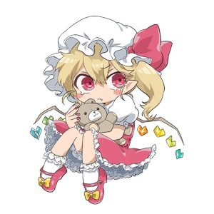 Rating: Safe Score: 0 Tags: 1girl artist_request blonde_hair bloomers blush_stickers bow fang fang_out flandre_scarlet frilled_skirt frills hat highres mob_cap puffy_short_sleeves puffy_sleeves red_bow red_eyes red_footwear red_skirt red_vest shirt shoes short_hair short_sleeves side_ponytail simple_background skirt solo touhou_project underwear vest white_background white_shirt wings yellow_bow User: DMSchmidt