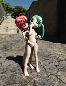 Rating: Explicit Score: 2 Tags: 2girls 3d_custom_girl 3dcg breasts fingering highres multiple_girls nipples nude open_mouth outdoors shiny shiny_hair small_breasts toufu_(tofusan) yuri User: Domestic_Importer