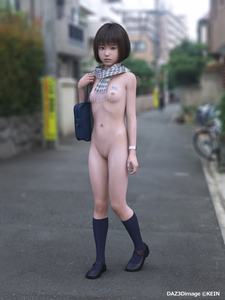 Rating: Questionable Score: 10 Tags: 1girl 3dcg asian black_hair breasts exhibitionism kein nipples nude photorealistic public_nudity pussy scarf short_hair small_breasts solo_focus standing User: laylomo