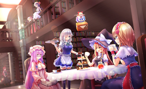 Rating: Safe Score: 0 Tags: 6+girls :d ;) ahoge alice_margatroid apron bangs basket bat_wings bespectacled black_dress black_hat black_legwear black_skirt black_vest blonde_hair blue_bow blue_dress blue_eyes blue_hair blue_ribbon blush book bookshelf bow bowtie braid breasts cake capelet chair charlotte_(a623024828) cleavage column crescent crescent_hair_ornament crystal cup demon_wall dress dutch_angle elbow_rest eye_contact eyebrows_visible_through_hair feet_out_of_frame flandre_scarlet flower flying food frilled_apron frilled_capelet frilled_sash frilled_sleeves frills glasses green_bow green_ribbon hair_between_eyes hair_bow hair_flower hair_ornament hairband hand_up hands_up hat hat_bow hat_ribbon head_tilt headdress highres holding holding_basket holding_book holding_cup holding_plate holding_tray indoors izayoi_sakuya juliet_sleeves kirisame_marisa koakuma library light_particles light_rays lolita_hairband long_hair long_sleeves looking_at_another maid maid_apron maid_headdress mary_janes medium_breasts mob_cap multiple_girls neck_ribbon necktie on_railing one_eye_closed open_mouth parted_lips patchouli_knowledge petticoat pillar pink_hat pitcher plate pointy_ears profile puffy_short_sleeves puffy_sleeves purple_dress purple_eyes purple_hair railing red_bow red_eyes red_flower red_footwear red_hair red_hairband red_neckwear red_ribbon red_rose red_sash red_skirt red_vest remilia_scarlet ribbon rose sash shanghai_doll shirt shoes short_dress short_hair short_sleeves siblings sidelocks silver_hair single_braid sisters sitting skirt skirt_set smile standing striped table tablecloth teacup thighhighs touhou_project tray twin_braids vertical-striped_dress vertical_stripes very_long_hair vest waist_apron walking white_apron white_bow white_capelet white_dress white_hat white_shirt wide_sleeves wing_collar wings witch_hat wrist_cuffs yellow_eyes zettai_ryouiki User: DMSchmidt