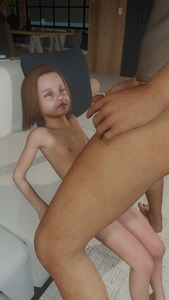 Rating: Explicit Score: 5 Tags: 1boy 1girl 3dcg age_difference brown_hair closed_eyes clothed_male_nude_female couch cum facial flat_chest holding_penis kirkylol navel nipples nude penis photorealistic pussy shadow sitting standing User: fantasy-lover
