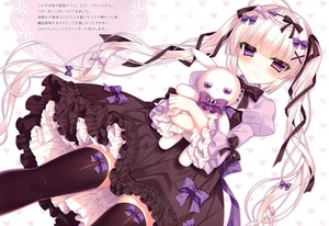 Rating: Safe Score: 2 Tags: 1girl absurdres dress gothic_lolita highres lolita_fashion long_hair solo tagme thighhighs tsukikage_nemu twin_tails very_long_hair User: DMSchmidt
