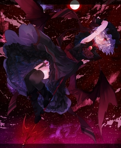 Rating: Safe Score: 0 Tags: 1girl arm_up armpits asymmetrical_gloves black_dress black_footwear black_gloves black_hat black_legwear boots dress elbow_gloves fingerless_gloves fl114shinjitsu full_body full_moon gloves gothic_lolita hair_over_one_eye hat knife lolita_fashion long_dress looking_at_viewer moon red_eyes red_sky red_wings remilia_scarlet short_hair silver_hair sky sleeveless sleeveless_dress solo star_(sky) starry_sky thigh_strap thighhighs touhou_project wings User: DMSchmidt