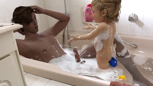 Rating: Questionable Score: 30 Tags: 1boy 1girl 3dcg age_difference ass bathing bathtub blonde_hair butt_plug dory finding_nemo foam hair_bun nude penis photorealistic product_placement rubber_duck shampoo smile sofom User: yobsolo