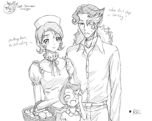 Rating: Safe Score: 0 Tags: 1boy 2girls 4chan camera code_geass drawfag dress english family food fruit hat if_they_mated jeremiah_gottwald monochrome multiple_girls nurse_cap orange recording shinozaki_sayoko straw_hat traditional_media User: DMSchmidt